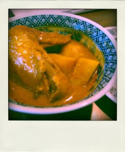 Malaysian Chicken Curry which I cooked up