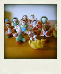 Small chinese crochet dolls.