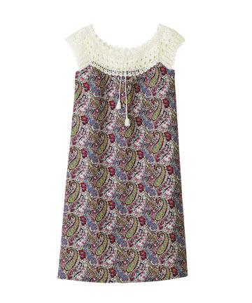 Bourton Liberty Print Crochet Dress, A.P.C.