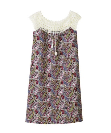 Bourton Liberty Print Crochet Dress, A.P.C.