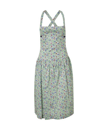 Green Liberty Print Apron Dress, Cacharel.