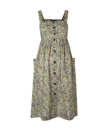 Green Button Through 70s Dress, Cacharel.